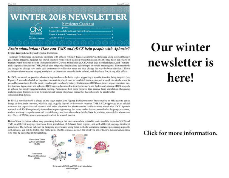 Winter Newsletter for Website